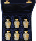 Bini Brass Velvet Urn Box