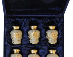 Bini Brass Velvet Urn Box