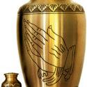 Brass Urn – Praying Hands