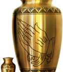 Brass Urn – Praying Hands