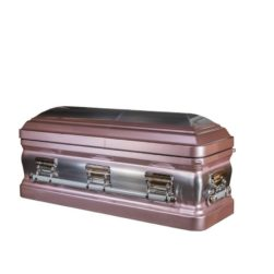 Carnelian – Metal Casket in Rose and Silver finish with Light Pink Interior