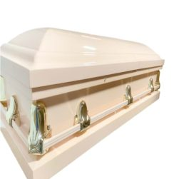 Stanford Pink Casket in pink color with Pink Interior – Metal Casket