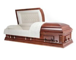 Howard White – Metal Casket in White Finish and White Interior