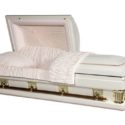 Adams White – Oversize Casket White Finish with Light Pink Interior
