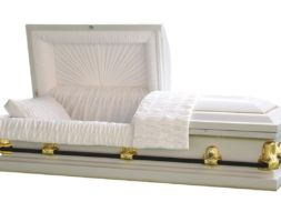Stanford White Casket – White finish with White Interior